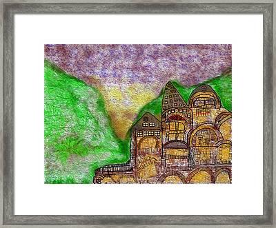 European Village Framed Print by John Hines