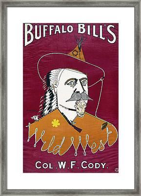 Buffalo Bill Wild West Show Announcement - 1890 Framed Print