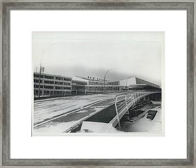 Europes  Most Modern Airport - Under Construction. Vienna Framed Print by Retro Images Archive