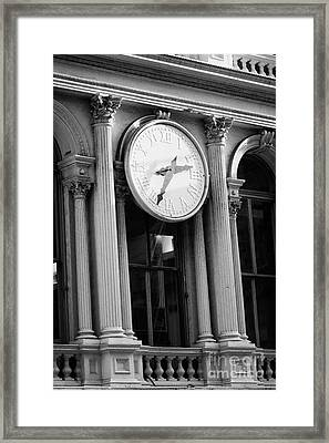 E.v. Haughwout Building With Its Clock And Cast Iron Facade On Broadway In Soho New York Framed Print