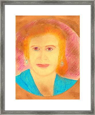 Eva Peron Orange Framed Print by Richard W Linford