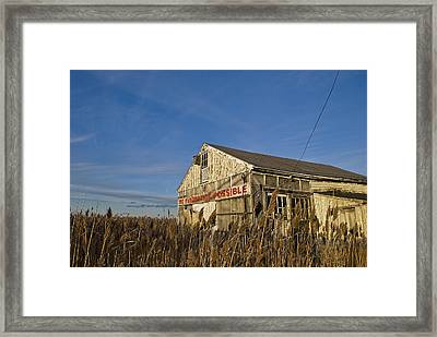 Evacuation Not Possible Framed Print by Rick Mosher