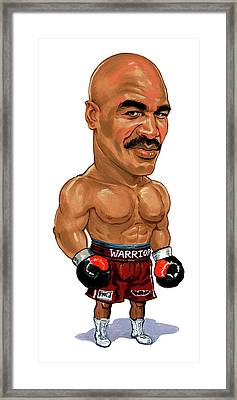 Evander Holyfield Framed Print by Art