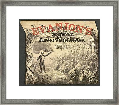 Evanion's Royal Entertainment Framed Print by British Library