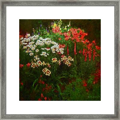 Evanston Garden Framed Print by Michael Durst