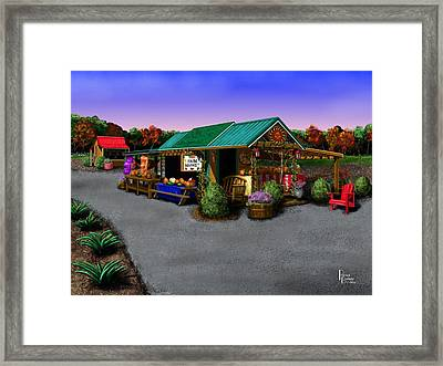 Eva's Farm Market Framed Print by Patrick Belote
