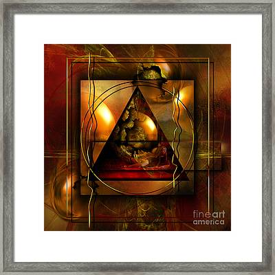 Eva's Guilt And Adam's Love Framed Print