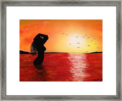 Framed Print featuring the painting EVE by Michael Rucker