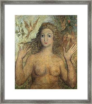 Eve Naming The Birds Framed Print