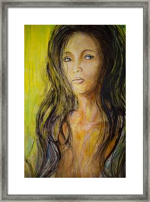 Eve Portrait  Framed Print by Nik Helbig