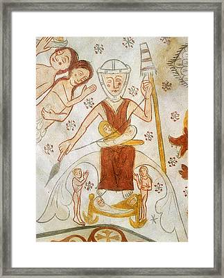 Eve Spinning, C1350 Framed Print by Granger