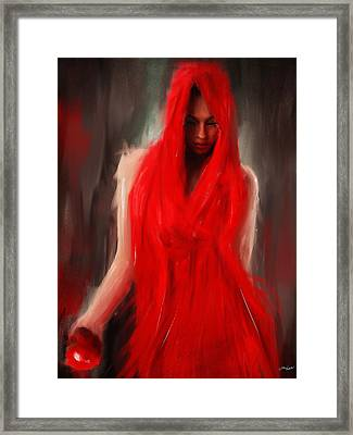 Eve Within Framed Print by Lourry Legarde