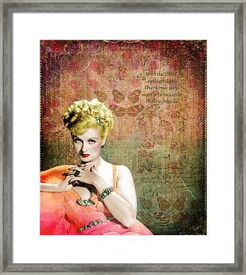 Evelyn Keyes 1920s Starlet Framed Print by Cat Whipple