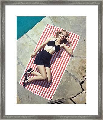 Evelyn Keyes Framed Print