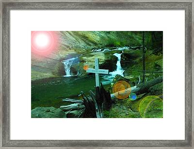 Even After The Ashes Love Remains  Framed Print