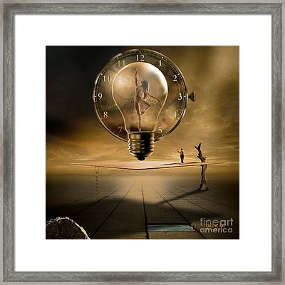 Even In The Quietest Moment Framed Print