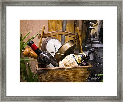 Even Italian Garbage Is Classy Framed Print