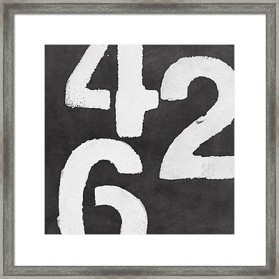 Even Numbers Framed Print