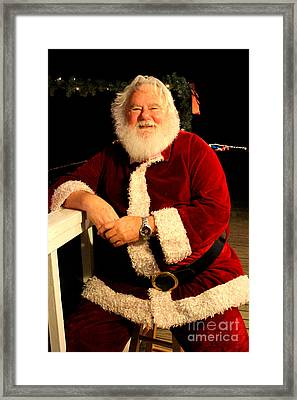 Even Santa Needs A Break Framed Print by Kathy  White