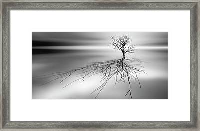 Even The Dead Cast Shadows Framed Print by Leif L?ndal