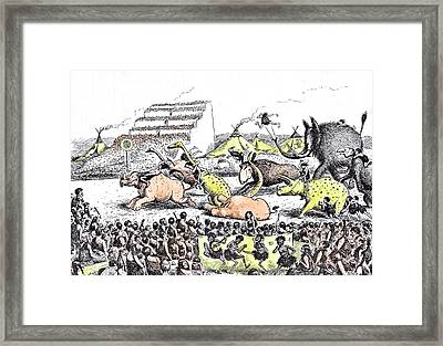 Even The Derby Had Its Primeval Counterpart Framed Print