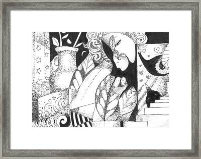 Even The Moon Has Its Phases Framed Print by Helena Tiainen