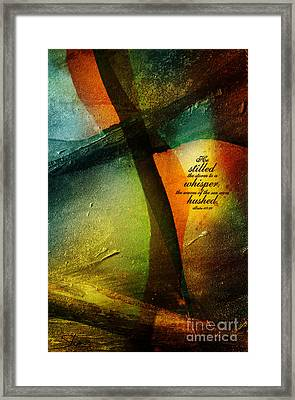 Even The Winds And Waves Obey Him - Verse Framed Print