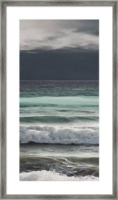 Even Tides Framed Print