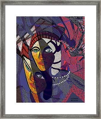 105 Even With One Eye You Can See   Framed Print by Irmgard Schoendorf Welch