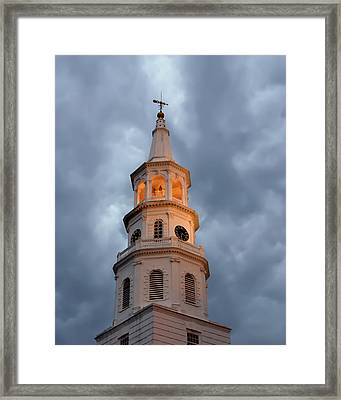 Even Within The Storm There Is Light Framed Print