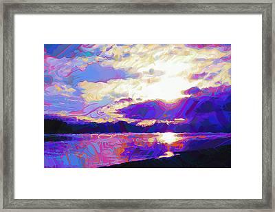 Evening Abstract Framed Print by Dorinda K Skains