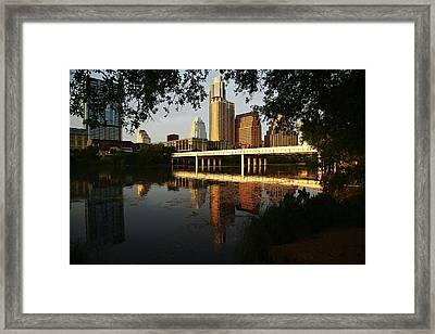 Evening Along The River Framed Print