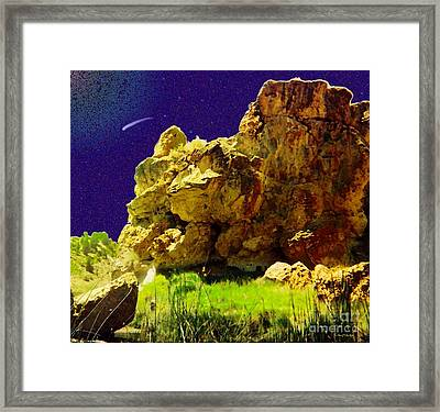 Evening And Morning 3rd Day Framed Print