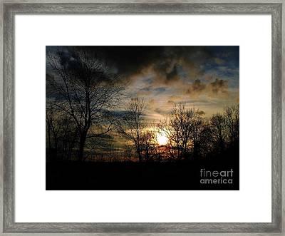 Evening Approach Framed Print