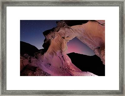 Evening Arch Framed Print by Rick Berk