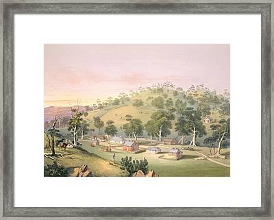 Evening At Angaston, South Australia Framed Print