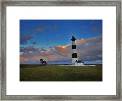 Evening At Bodie Island Lighthouse Framed Print