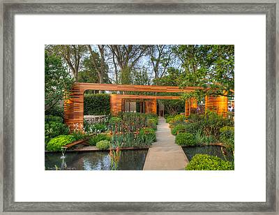 Framed Print featuring the photograph Evening At Chelsea Flower Show by Ross Henton