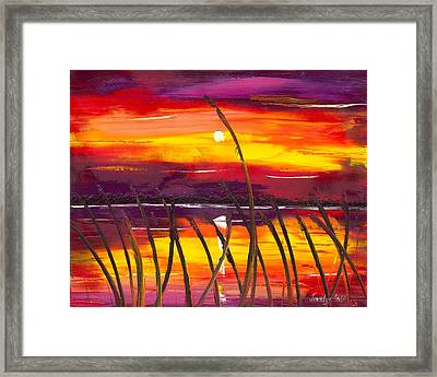 Evening At Lake Butler Framed Print by Jessilyn Park