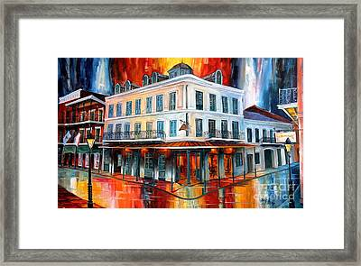 Evening At Napoleon House Framed Print by Diane Millsap