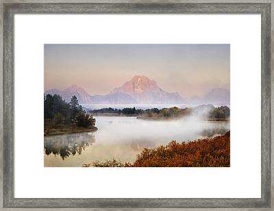 Evening At Oxbow Bend Framed Print