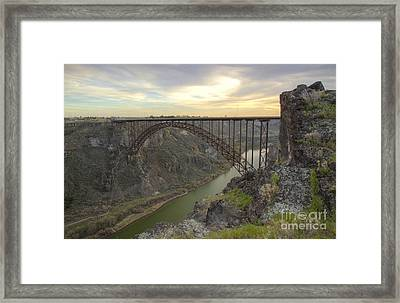 Evening At Perrine Framed Print