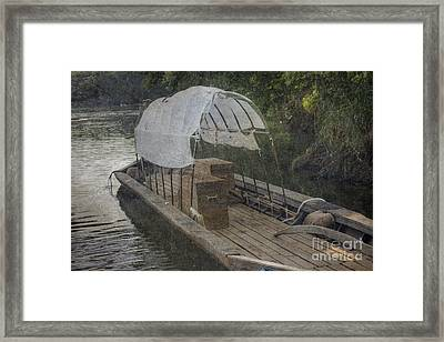Framed Print featuring the photograph Evening At Port by Pete Hellmann