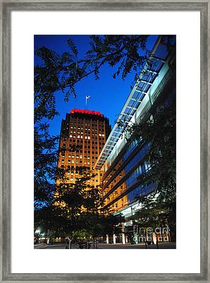 Evening At Ppl Plaza - Allentown Pa  Vertical Framed Print