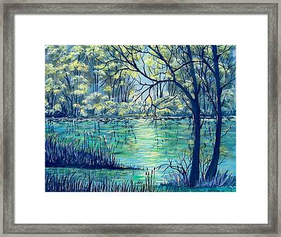 Evening At The Bayou Framed Print