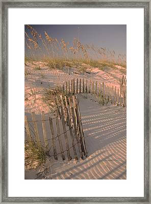 Evening At The Beach Framed Print by Maria Suhr