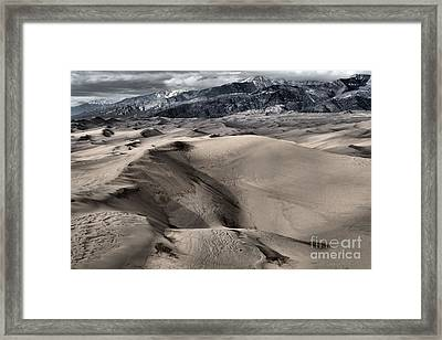 Evening At The Dunes Framed Print
