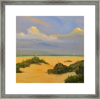 Evening At The End Of A Street Framed Print by Jim Christley