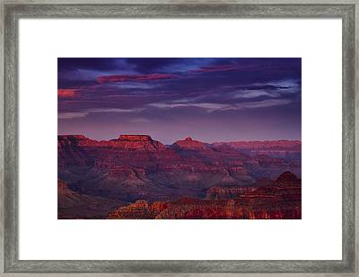 Evening At The Grand Canyon Framed Print