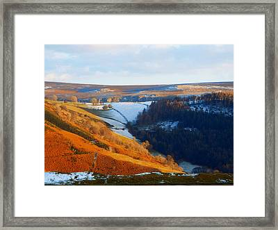 Evening At The Horseshoe Pass Framed Print